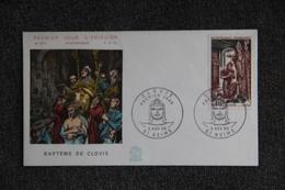 FDC,1966, Baptême De CLOVIS - REIMS, N° 577 - 1960-1969