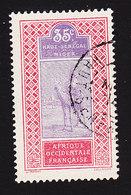 Upper Senegal And Niger, Scott #27, Used, Camel With Rider, Issued 1914 - Opper-Senegal En Niger (1904-1921)