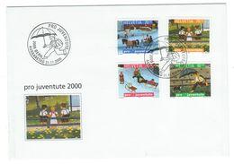 Suisse // Pro- Juventute / FDC / Lettre 1er Jour Série 2000 - Pro Juventute