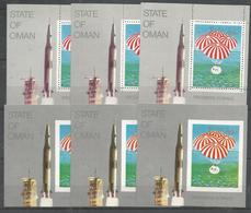 3x STATE OF OMAN - MNH - Space - Perf. + Imperf. - Espace