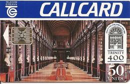 CARTE-PUCE-IRELANDE-SC5-COLLEGE TRINITY 400 ANS-R°Mat-Sans N° Série-TBE-RARE - Irlande