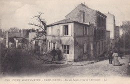 VIEUX MONTMARTRE. PARIS. RUE DES SAULES ET RUE DE L'ABREUVOIR. LL. CIRCA 1900's- BLEUP - Francia