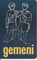 CARTE PUCE-2001-ROUMANIE-GEM6-ZODIAQUE-GEMEAUX-UTILISE-TBE - Zodiaco