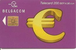 TC-PUCE-BELGACOM-200BEF/4,96€-SIGLE EURO-Exp31/01/2004-TBE - - Belgique