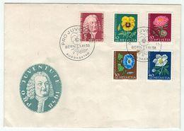 Suisse // Pro- Juventute / FDC / Lettre 1er Jour Série 1958 - Lettres & Documents