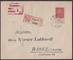 """Zagreb, Registerd Cover, Franked 1 K., """"Seamen"""", To Basel, July 1919 - Storia Postale"""