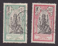 French India, Scott #30, 32, Used, Brahma, Issued 1914 - India (1892-1954)
