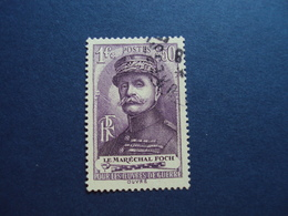 """1940  -timbre Oblitéré N° 455    -""""   FOCH    """"       Cote   7           Net  2.30 - Frankreich"""