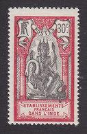 French India, Scott #39, Mint Hinged, Brahma, Issued 1914 - India (1892-1954)