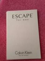 ESCAPE FOR MEN DE CALVIN KLEIN - Cartas Perfumadas