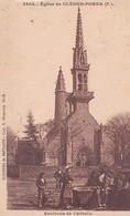 CLOCHERS DE BRETAGNE . Environs De CARHAIX . Eglise De CLEDEN -POHER (29) Animée - Carhaix-Plouguer