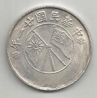 Cina, Repubblica, 1917, Yunnan, 50 C., Weight 10,95 Gr. - Cina