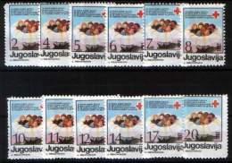 Yugoslavia 1987 Red Cross, Set MNH - Segnatasse