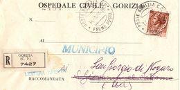Piego Ospedaliero Gorizia -> Municipio S. Giorgio Di Nogaro - 1981-90: Storia Postale