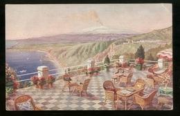 TAORMINA - MESSINA - INIZI 900 - HOTEL VILLA BELVEDERE - Hotels & Restaurants