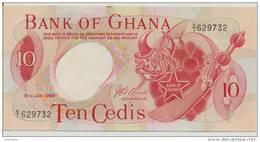 GHANA P. 12b 10 C 1969 AUNC - Ghana