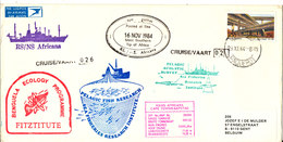 South Africa Paquebot Cover Cape Town Posted At Sea 16-11-1984 RS/NS Africana 26 Voyage With A Lot Of Postmarks - Covers & Documents