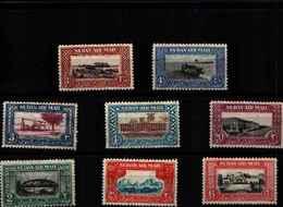 71761)  SOUDAN POSTA AEREA SERIE CORRENTE 8 V. N. 33-40 MNH** - Sudan (1954-...)
