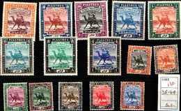 71763)  SOUDAN  SERIE CORRENTE  15 V. N. 38-49-MNH**-MLH* - Sudan (1954-...)