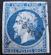 R1530/87 - NAPOLEON III N°14Aa Bleu Foncé - 1853-1860 Napoléon III