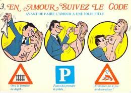 ** Lot De 2 Cartes ** HUMOUR COQUIN : Suivez Le Code & Effeuillez La Marguerite - CPM GF Seins Nus Nude Nu Topless G - Humour