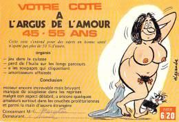 ** Lot De 2 Cartes ** HUMOUR COQUIN : Argus De L'Amour & A Propos De Seins - CPM GF Seins Nus Nude Nu Topless Girl - Humour