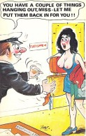 ** Lot De 2 Cartes ** HUMOUR COQUIN ( Cardtoon Series - Great Britain ) CPM GF Seins Nus Nude Nu Topless Girl - Humour