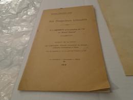 NOS PROSPECTEURS LIMOUSINS  M. J. DEMARTY ET LA QUESTION DE L'OR AU MASSIF CENTRAL 1913 Alexandre THEVENOT - Limousin