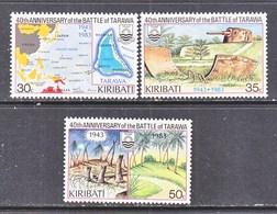 KIRIBATI  432-4   **  BATTLE  OF  TARAWA  MAP - Kiribati (1979-...)