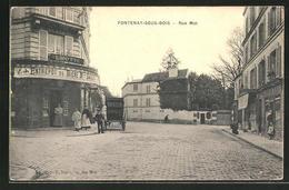 CPA Fontenay-sous-Bois, Rue Mot, Vue De La Rue - Fontenay Sous Bois