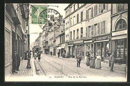 CPA Elbeuf, Rue De La Barrière, Vue De La Rue - Elbeuf