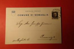 CARTOLINA COMUNE DI SOMAGLIA   E 1091 - Commercio