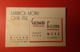 CARTOLINA COLOMBO FILIPPO FABRICA MOBILI    E 1095 - Commercio