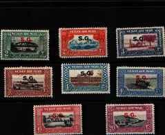 71768)  SOUDAN POSTA AEREA SOPRASTAMPATA -SG- SERIE CORRENTE-8 V.. N. 1-8-MNH** - Sudan (1954-...)