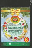# PINEAPPLE DEL MONTE GOLD HAPPY HOLIDAYS Size 6 Type 2 Fruit Tag Balise Etiqueta Anhanger Ananas Pina Costa Rica - Fruits & Vegetables