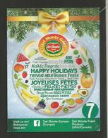 # PINEAPPLE DEL MONTE GOLD HAPPY HOLIDAYS Size 7 Fruit Tag Balise Etiqueta Anhanger Ananas Pina Costa Rica - Fruits & Vegetables