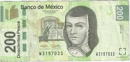 México 200 Pesos 27-10-2014 Pick 125.k AZ Ref 1880 - Mexico