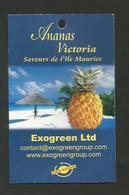 # PINEAPPLE VICTORIA ILE MAURICE MAURITIUS Fruit Tag Balise Etiqueta Anhanger Ananas Pina Par Avion By Air Airplane - Fruits & Vegetables