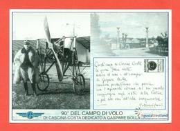 AVIAZIONE  AEREI - CASCINA COSTA-90° DELCAMPO DI VOLO - Flugwesen