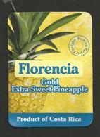 # PINEAPPLE FLORENCIA GOLD Fruit Tag Balise Etiqueta Anhanger Ananas Pina Costa Rica - Fruits & Vegetables
