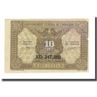 Billet, FRENCH INDO-CHINA, 10 Cents, Undated (1942), KM:89a, TB - Indochine