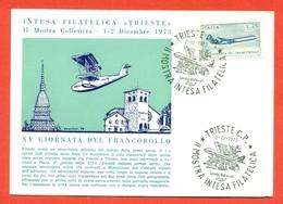 AVIAZIONE  AEREI - TRIESTE-INTESA FILATELICA - MARCOFILIA - Aviazione
