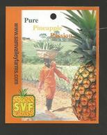 # PINEAPPLE SVF SAM VALLEY FARMS GHANA Fruit Tag Balise Etiqueta Anhanger Ananas Pina Afrika - Fruits & Vegetables