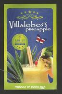 # PINEAPPLE VILLALOBOS'S FAMILY Fruit Tag Balise Etiqueta Anhanger Ananas Pina Costa Rica - Fruits & Vegetables
