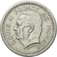 Monnaie, Monaco, Louis II, 2 Francs, Undated (1943), TTB, Aluminium, Gadoury:MC - Monaco