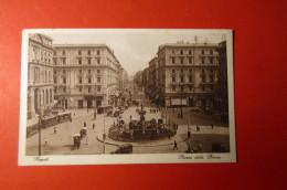 CARTOLINA NAPOLI   PIAZZA DELLA BORSA  ANIMATA     E  1111 - Napoli