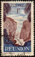 Réunion Obl. N° 268 - Détail De La Série émise En 1947 - 1 Fr Bleu Et Brun-lilas - Réunion (1852-1975)