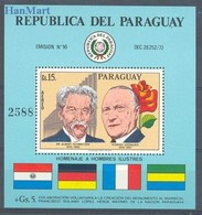 Paraguay 1975 Mi Bl 265 MNH ( ZS3 PRGbl265 ) - Nobel Prize Laureates