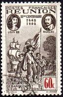 Réunion Obl. N° 180 - Rattachement à La France 60cts Sépia Et Carmin - Réunion (1852-1975)