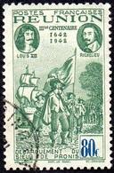 Réunion Obl. N° 181 - Rattachement à La France 80cts Vert Et Bleu - Réunion (1852-1975)